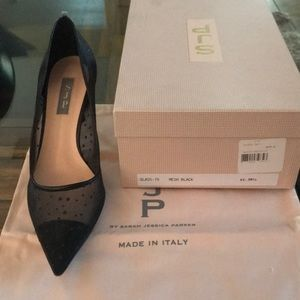 "SJP by Sarah Jessica Parker Shoes - SJP Black ""Glass"" 70 pump"
